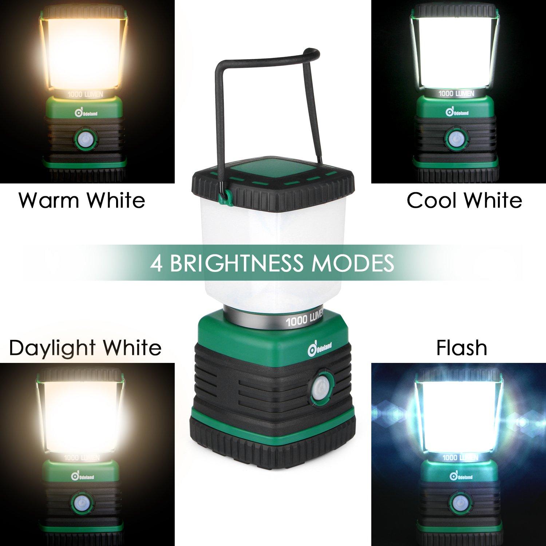 Odoland Ultra Bright 1000 Lumen Camping Lantern with Brightness Adjustment, Battery Powered LED Lantern of 4 Light Modes, Best for Camping, Hiking, Fishing & Emergency by Odoland (Image #3)