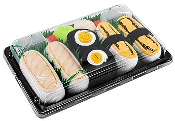 Sushi Socks Box 3 Pares de Calcetines: Maki de Oshinko, Tamago, Pampanito -