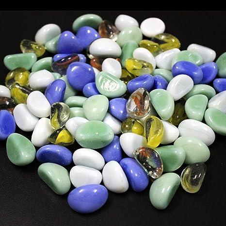 bayrick - Piedras Decorativas Pequeñas de 500 g, Varios Colores, para pecera, Acuario
