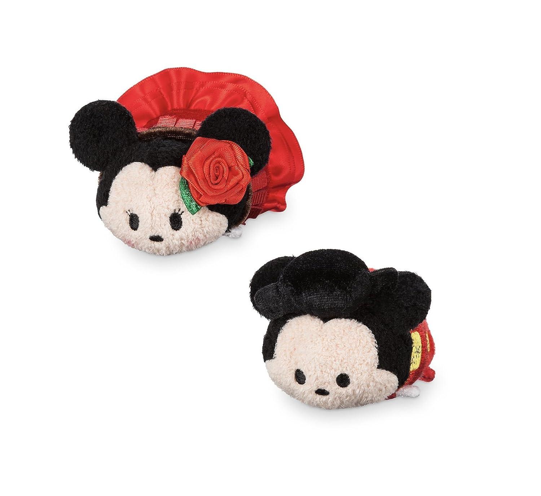 "Disney Store Mini Tsum Tsum Special Spain Set Stuffed 3.5"" Plush Toys Mickey Minnie Mouse"