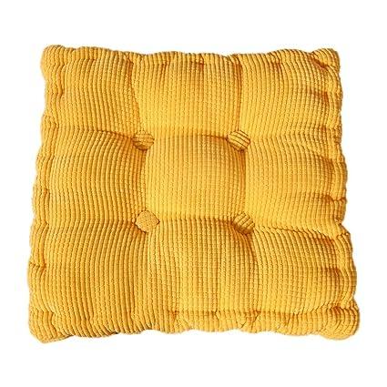 Monbedos Coussins de chaise épais et carrés en velours côtelé, pour ...