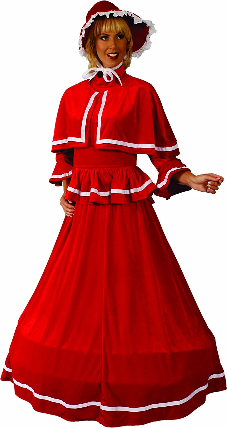 Christmas Caroling Costume.Adult Dickens Christmas Caroler Costumes Accessories
