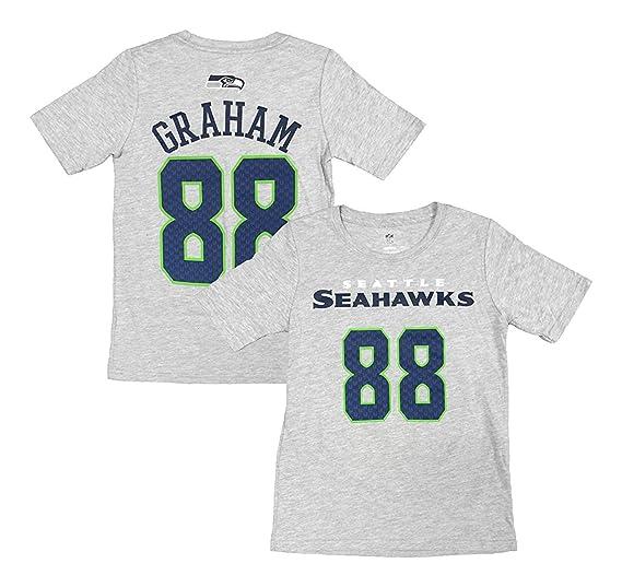 08607480 Amazon.com: Outerstuff Jimmy Graham Seattle Seahawks #88 Gray Kids ...
