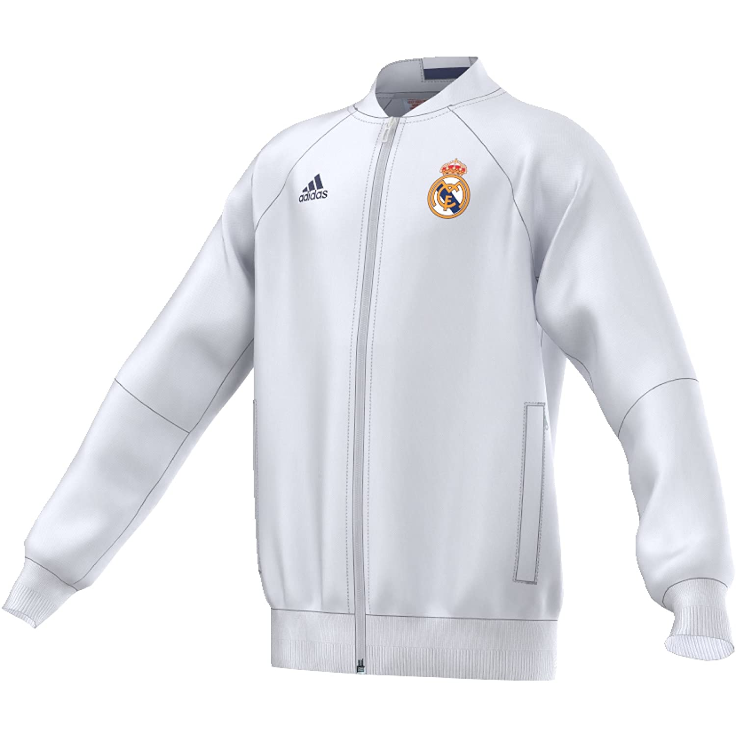 huge discount 57422 4168c adidas Real Madrid ANTH JKT and Jacket, White/Purple: Amazon ...