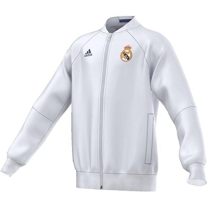 adidas Real Madrid Anth Jkt Y Chaqueta, Niños: Amazon.es ...
