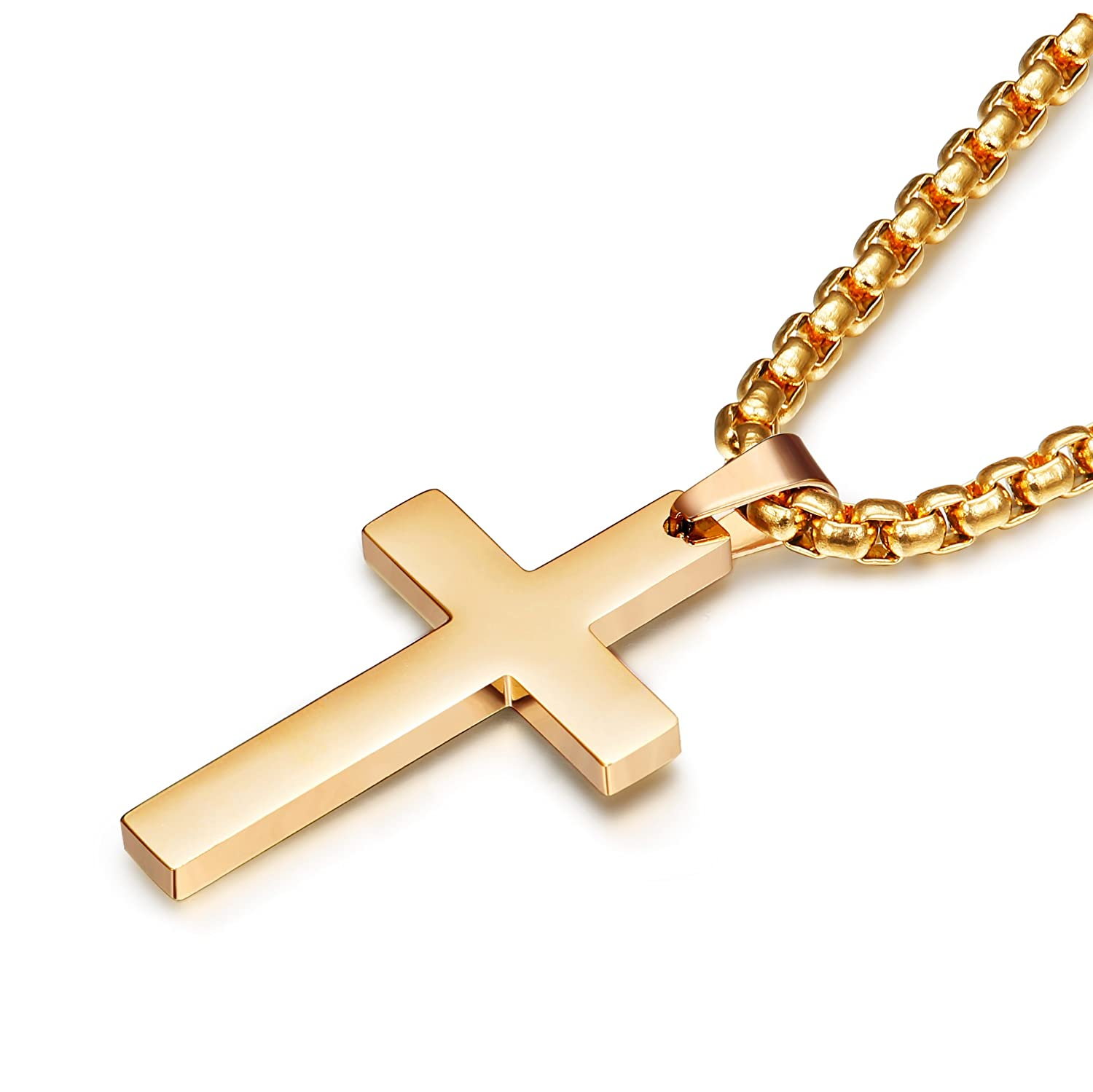 Jstyle Jewelry Stainless Steel Mens Cross Necklace Women Pendant Charms