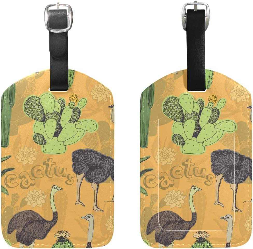 Emu Travel Tags For Travel Bag Suitcase Accessories 2 Pack Luggage Tags