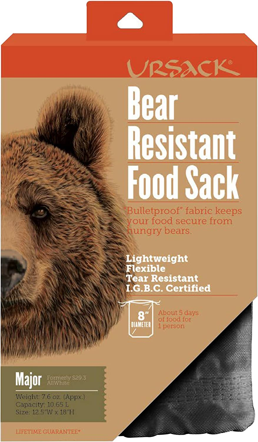 Ursack Major Black Bear Bag (Major-Blk)