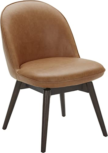 Amazon Brand Rivet Contemporary Leather Dining Chair