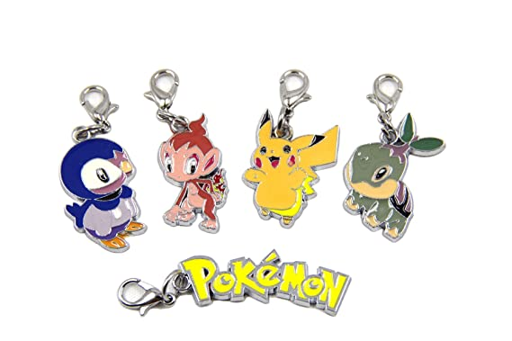 dancingstars Pokemon Pikachu 5 Pcs colgante Charms llavero ...