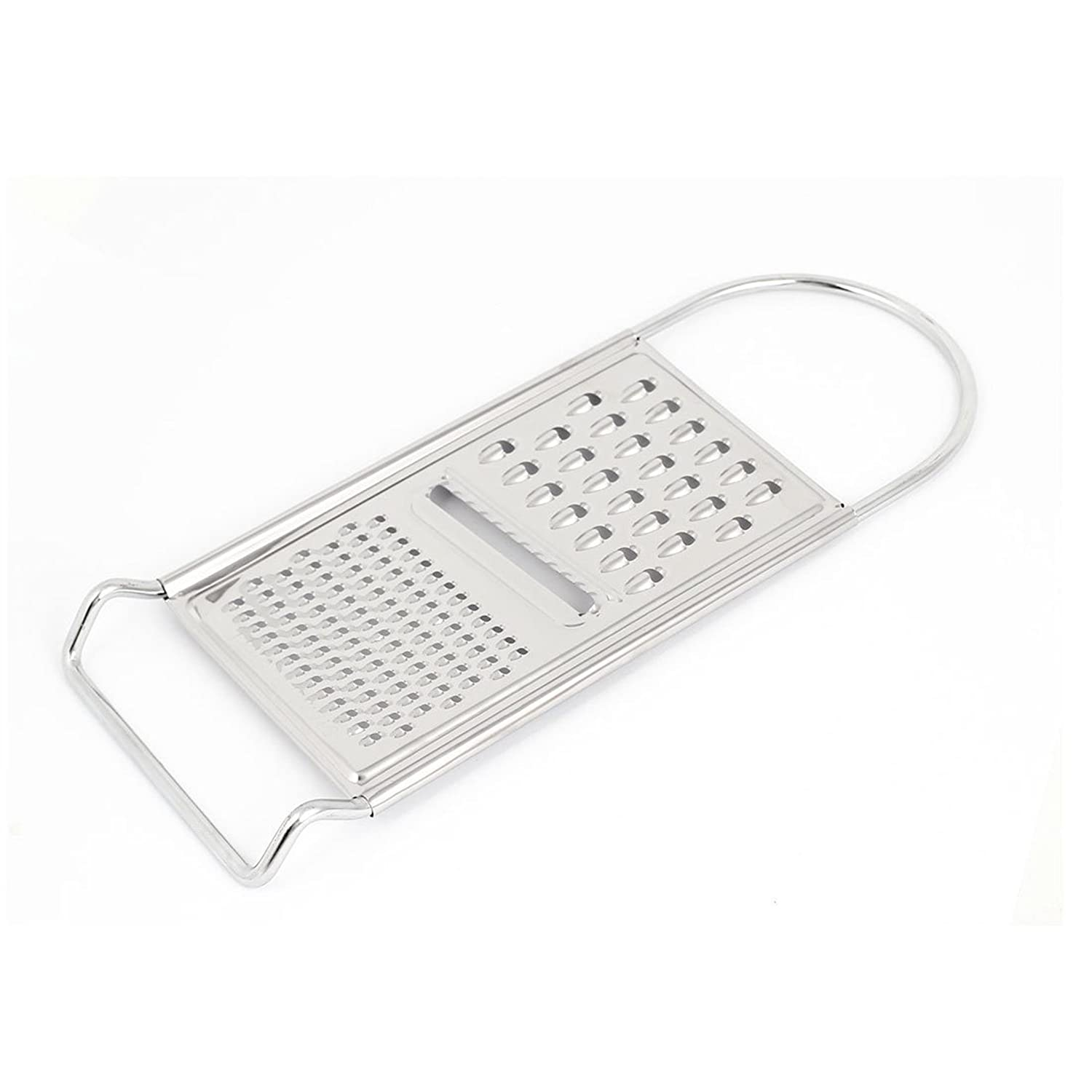 Keraiz Universal Grater Original for Cheese Vegetables Easy Job, Stainless Steel, Silver, 24 x 12 x 12 cm Stella 3U-QY8B-RCGX