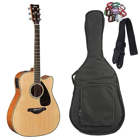 Yamaha fgx820 C Folk Guitarra acústica con cutaway guitarra ...