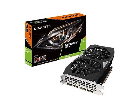 GIGABYTE GeForce GTX 1660 Ti OC 6G 192-bit GDDR6 DisplayPort 1.4 HDMI 2.0B with Windforce 2X Cooling System Graphic Cards- Gv-N166TOC-6GD