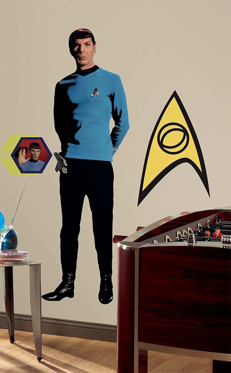 Amazon.com: RoomMates RMK1360GM Star Trek Spock Peel U0026 Stick Giant Wall  Decal: Home Improvement Part 98