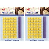 Tool Gadget Cookie Stamps, 2 Pack Number Alphabet Stamps for Cookie, Biscuit, Fondant
