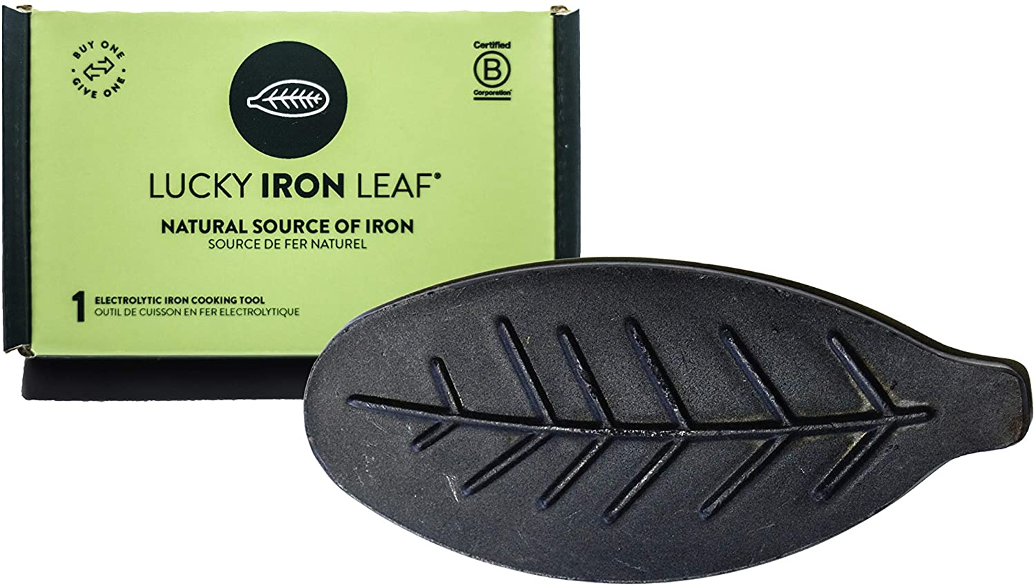 Lucky Iron Leaf, A Natural Source of Iron – A Cooking Tool to Add Iron to Food and Water, Reduce Iron Deficiency Without Supplements – Ideal for Pregnant or Menstruating Women, Athletes, Kids