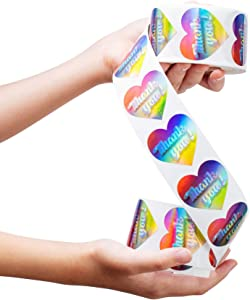 Thank You Stickers - 3D Holographic 1.5