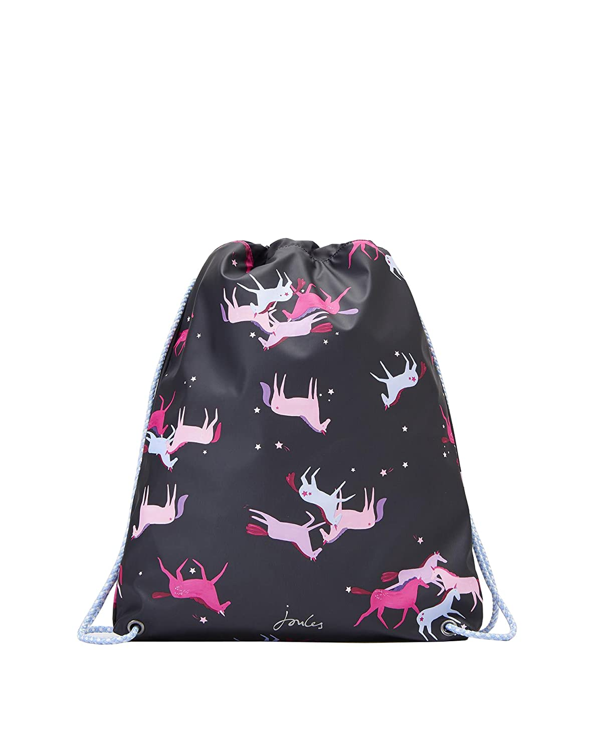 Joules Rubber Drawstring Bag - Navy Magic Unicorn