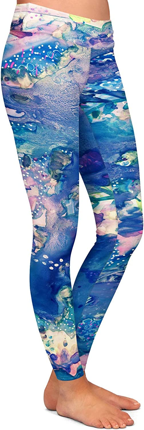 Athletic Yoga Leggings from DiaNoche Designs by Shay Livenspargar Sea Life