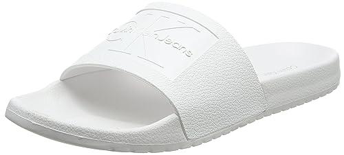 Calvin Klein Jeans Vincenzo Jelly, Sandali Punta Aperta Uomo, Bianco (Wht 000), 45 EU