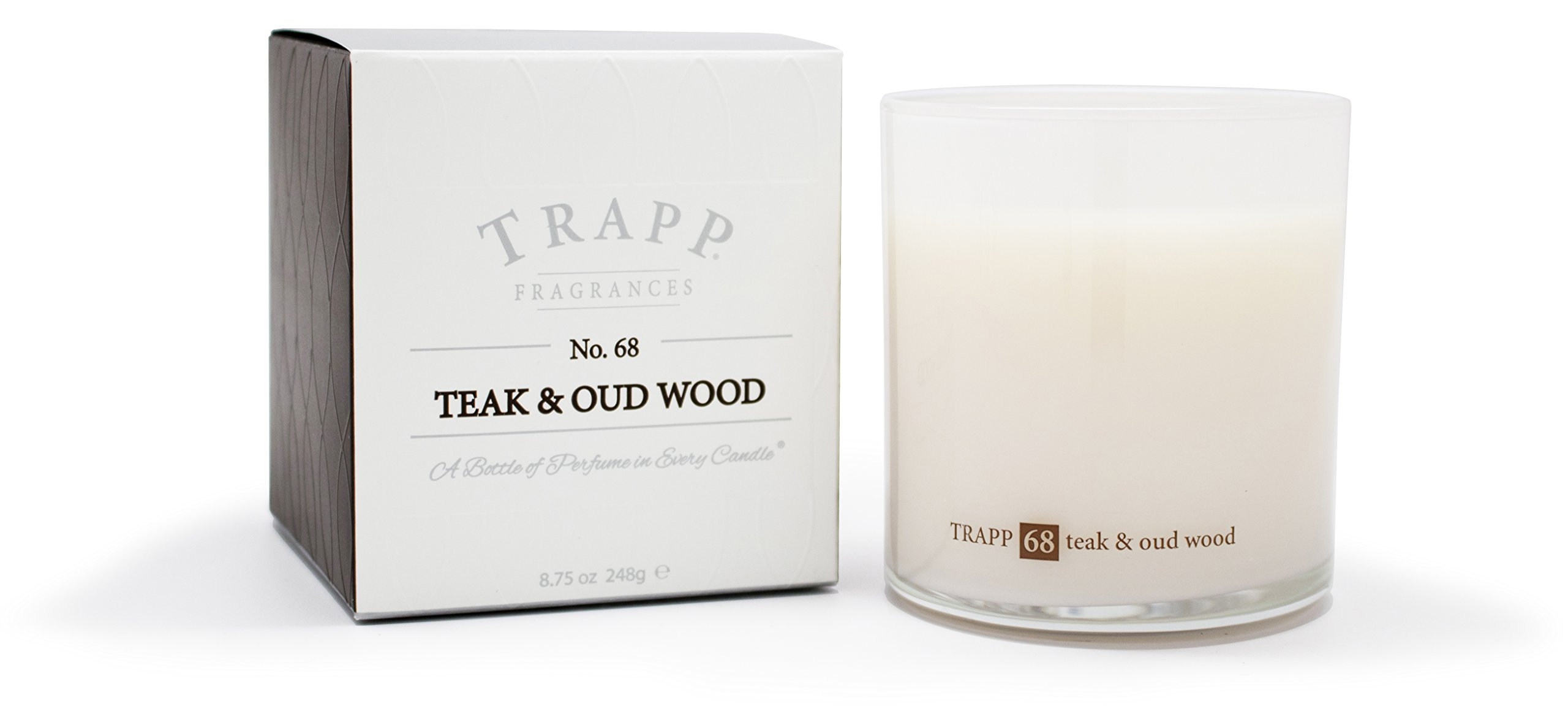 Trapp Ambiance Collection No. 68 Teak & Oud Wood Poured Scented Candle, 8.75-Ounces