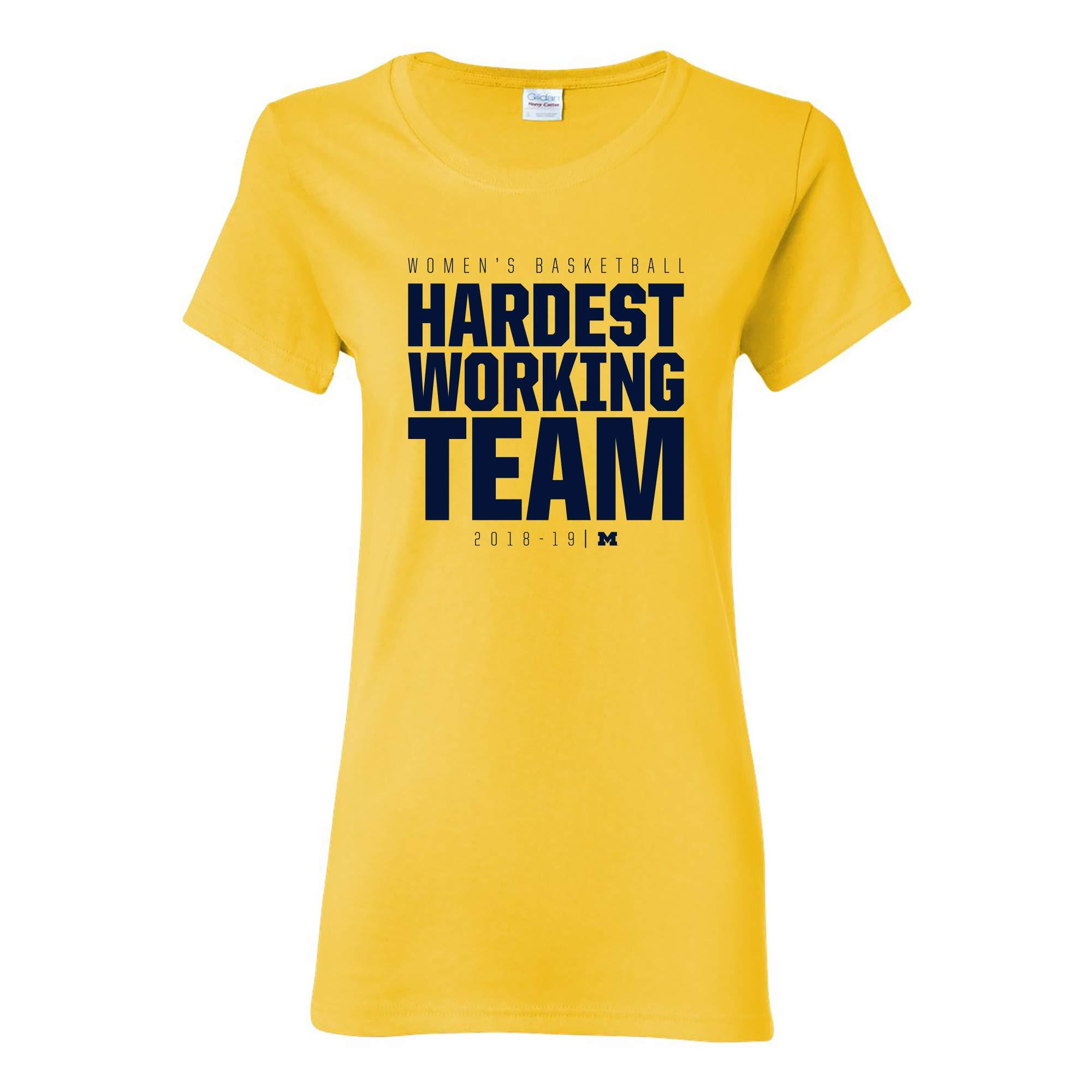 Michigan Basketball Hardest Working Team 20182019 T Shirt