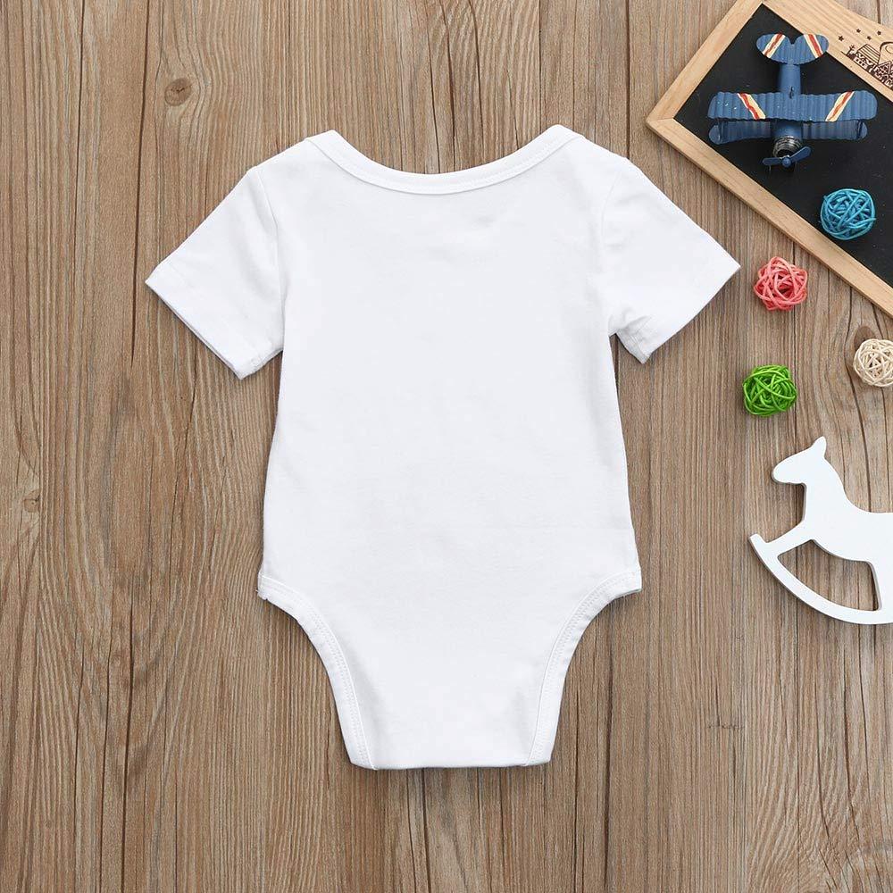 WOCACHI 0-24 Months Toddler Baby Girls Boys Romper Cotton Infant Unisex Letter Print Jumpsuit Sunsuit Outfits