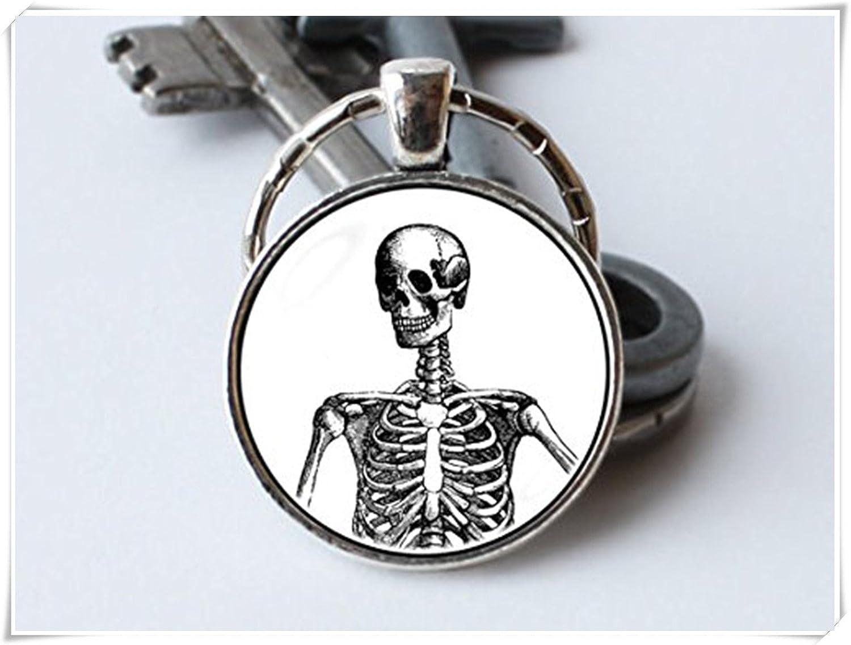 Skelett Schlüsselanhänger Menschliches Skelett Skelett Körper ...