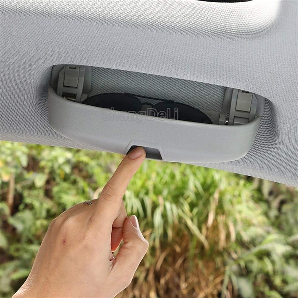 Creatividad Lentes De Azotea del Coche De La Manija Portalentes Gafas De Caja For Audi A3 S3 8V A4 B8 B9 A5 A6 Q7 Q3 Q5 para Organizador de anteojos de Coche Color : Black