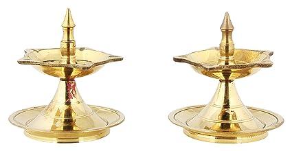 Buy Poompuhar Brass Panchalingam Deepam 6 Cm X 3 Cm X 3 Cm Yellow