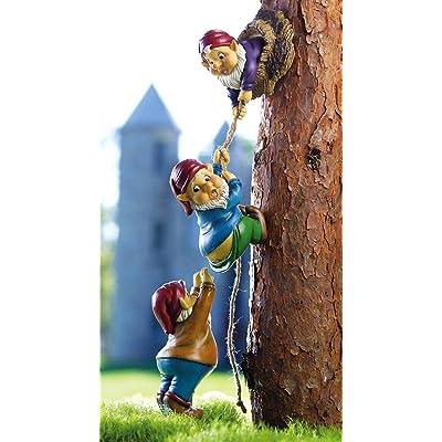 Climbing Gnomes Tree Decor : Outdoor Statues : Garden & Outdoor