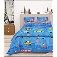 Blenzza Deco® Glace Cotton Cartoon Print Comforter for Single Bed with Attractive Luxury Bag Packing Blue