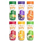 Happy Baby Organic Superfood Puffs Assortment Variety Packs 2.1 Ounce (Pack of 6)