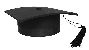 Tocco cappello da laureato lusso in tessuto anima rigida laurea nero   Amazon.it  Giochi e giocattoli 957689f5ce2d