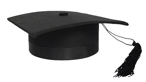 Tocco cappello da laureato lusso in tessuto anima rigida laurea nero   Amazon.it  Giochi e giocattoli 0ab0dacfd0c1
