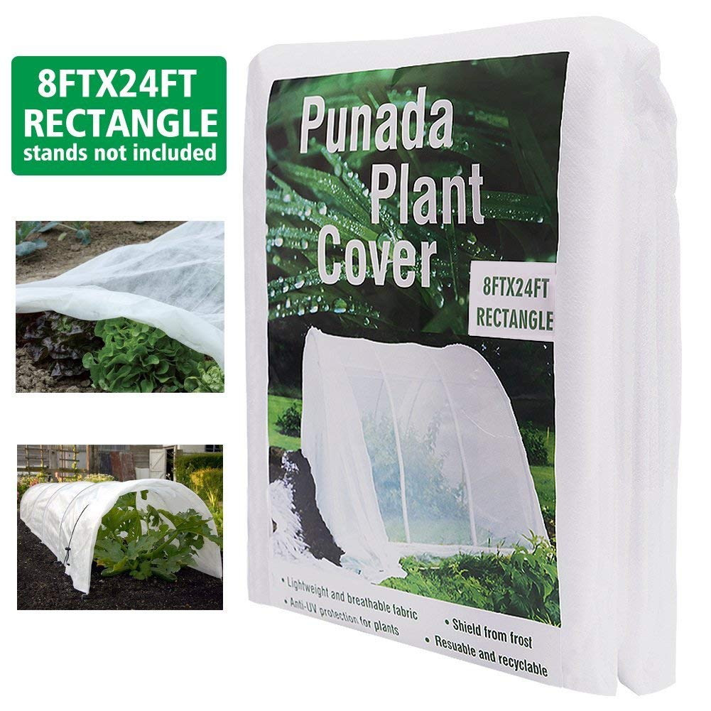 punada Premium Plant Covers Freeze Protection 8Ft x 24Ft Reusable Plant Covers for The Winter Frost Freeze Protection Covers Anti-UV for Snow Animal 19.2 OZ