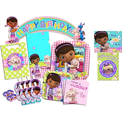Disney Doc McStuffins Party Supplies Ultimate Set-- Birthday Party Favors, Plates, Napkins and More!: Toys & Games