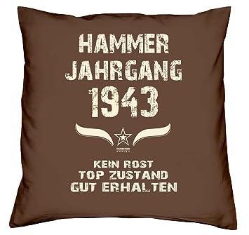 Hammer Jahrgang 1943 Sprüche Kissen 40x40 Für Die Ganze