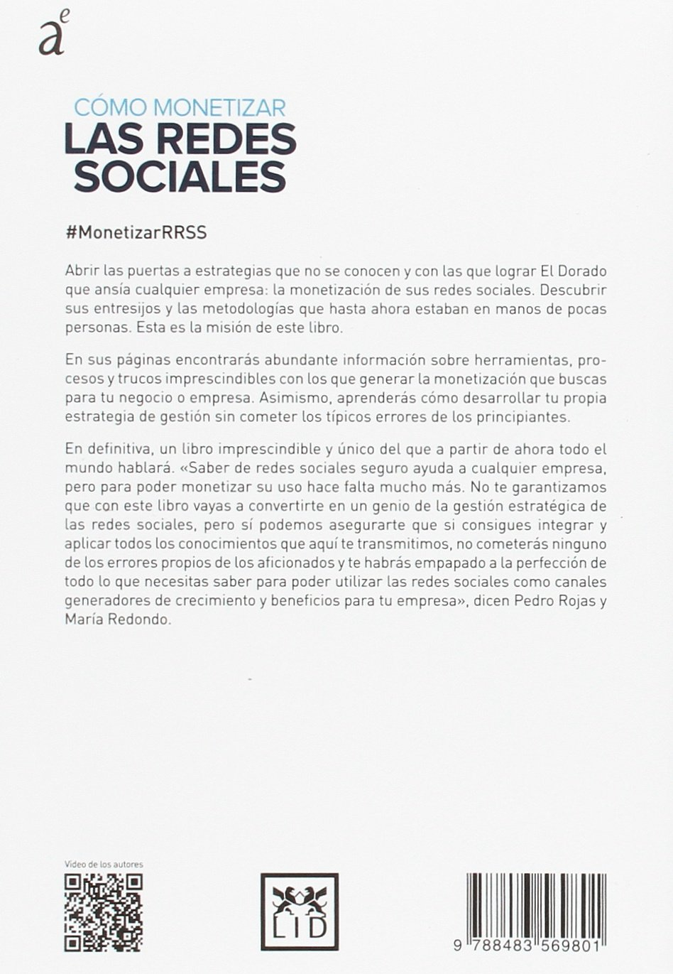 Cómo Monetizar Las Redes Sociales Acción Empresarial Spanish Edition 9788483569801 Rojas Pedro Redondo María Books