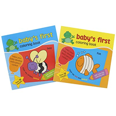 Coloring Books for Kids: Baby's First Coloring Book Coloring & Educational Books. Learning Coloring featured Letters and Flowers, Animals and Objects. Paper Craft. 2 Pack: Toys & Games