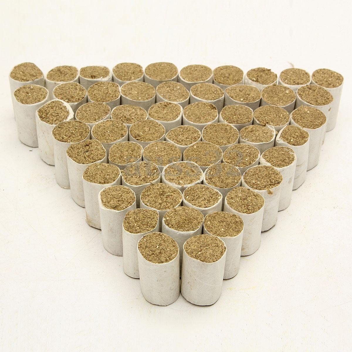 Gooday 54 PCS/lot Bee Hive Smoker Solid Fuel Beekeeping Tool Chinese Medicinal Herb Smoke Honey Produce Bee-Specific Smoke Bombs, Single Size:18mm x30mm
