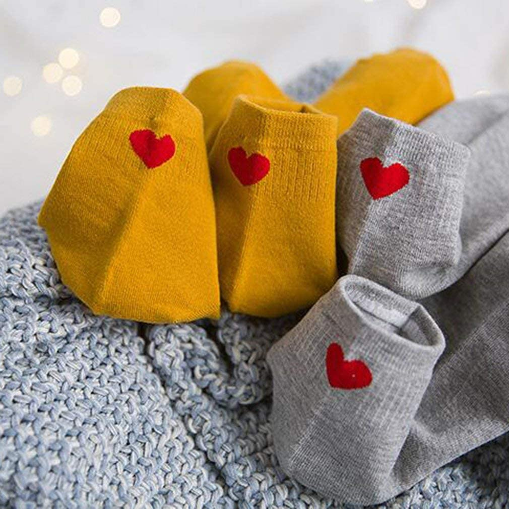 Autumn Winter Teenage Girls Heart Embroidery Middle Socks Cotton Socks Black