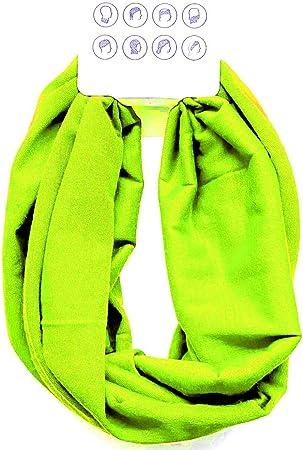 Multifunktionstuch Herren Damen Halstuch Schlauchtuch Outdoor Motorrad Fahrrad Schlauchschal Schlauch Tuch Schal Neongelb Auto