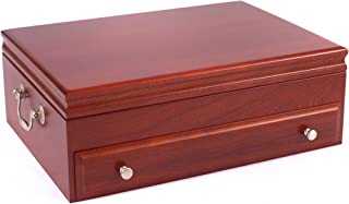 product image for American Chest F01C Bounty Flatware Chest, Solid American Hardwood with Heritage Cherry Finish & Anti-Tarnish Lining, Multicolor