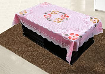 97fc2a3bd2c Image Unavailable. Image not available for. Colour  Kuber Industries™ Center  Table Cover Pink Cloth Net 40   60 Inches ...