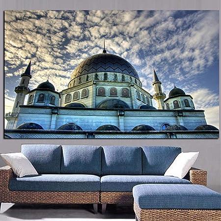 Islam Islamique Mosquée Sacrée Ciel Nuages Religion
