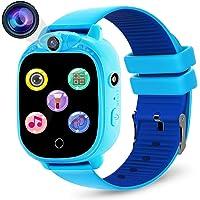 Prograce Reloj inteligente para cámara digital para niños con juegos, reproductor de música, conteo de pasos con…