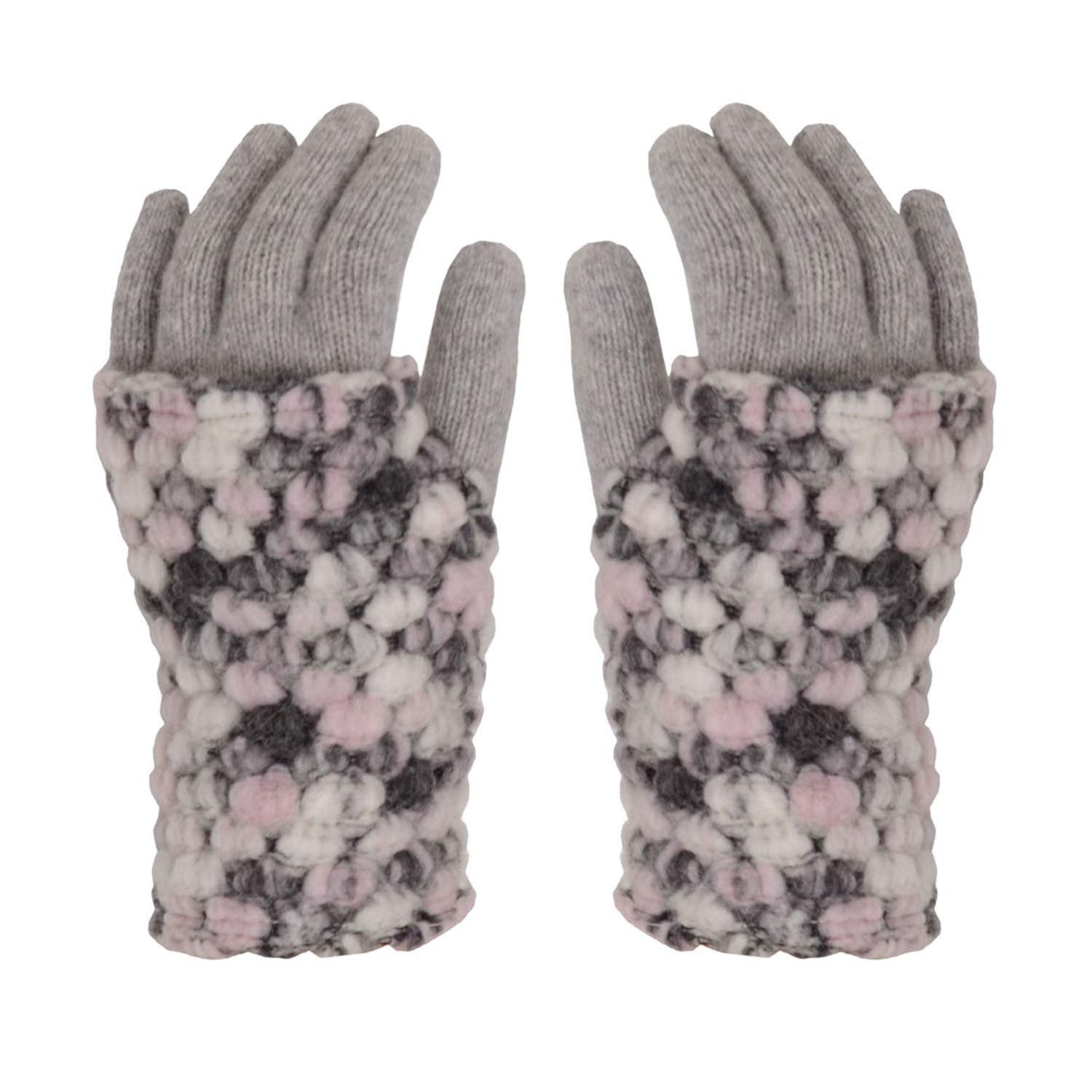Kamea Women's Thick Gloves Merano, Pink,One Size