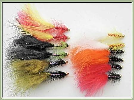 12 Goldhead Dancer Mixed Colours Lure Fishing Flies