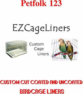 Bird Cage Liner EZ Cageliners Bird Cage Liners Plain and Coated Custom Cut to Order 150 Sheets Cut to Size-Message US with Sizes After Placing Order